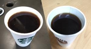 台湾のセブンとスタバのコーヒー比較